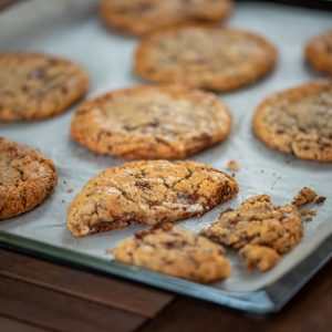 Triple chocolate soft cookies